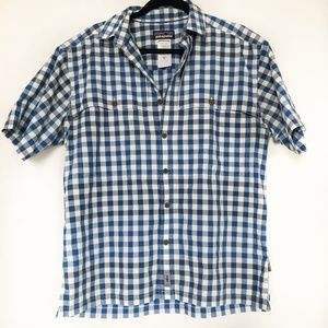 Patagonia Blue Checkered Button Up Size Medium